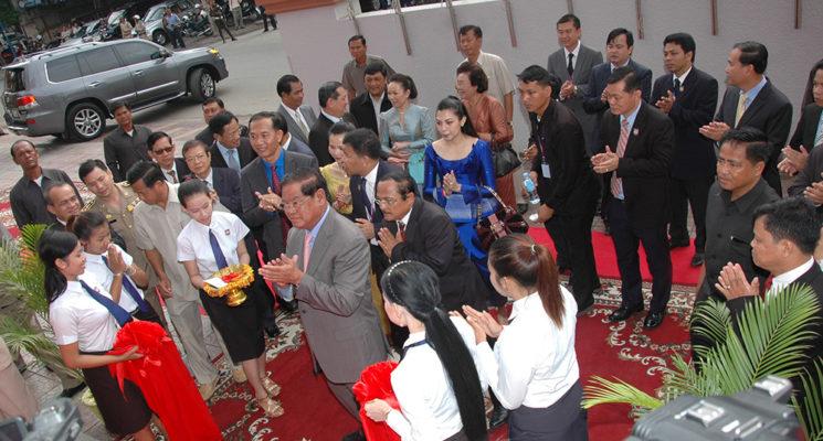 Acting Prime Minister Samdech Krohom Sar Kheng invites to open the new School of Human Resource University